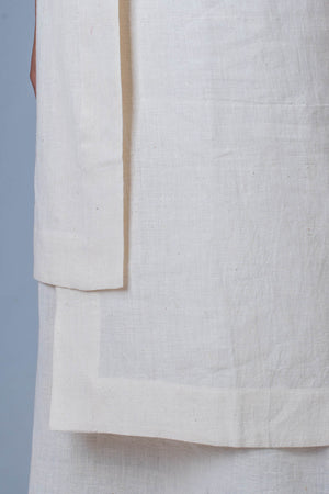 Off white Desi Cotton Dress - SANGYA - Upasana Design Studio