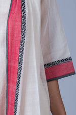 Off White Organic Cotton Jacket - CALLIGRAPHY - Upasana Design Studio