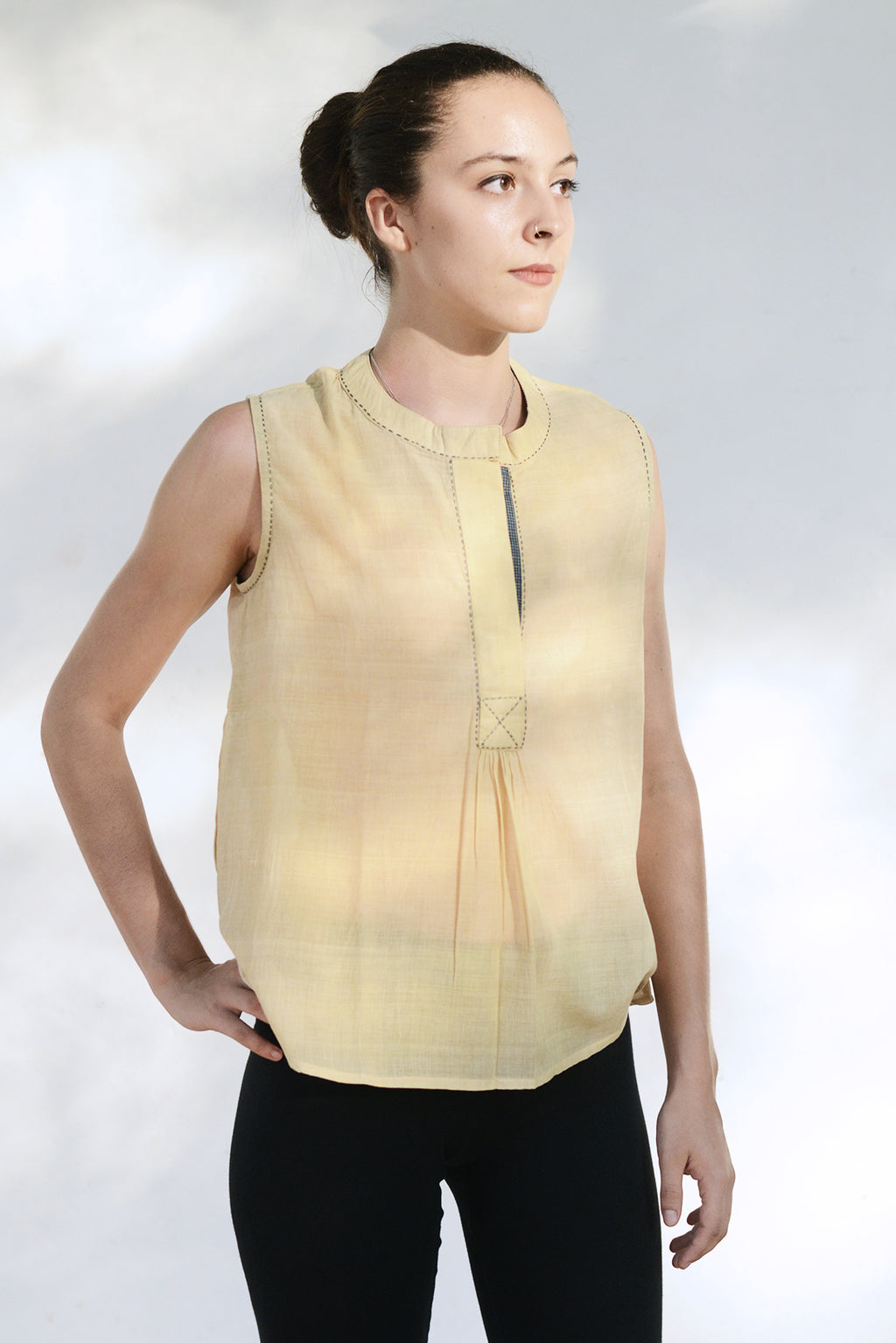 Neem dyed Organic Cotton Top - AHELI