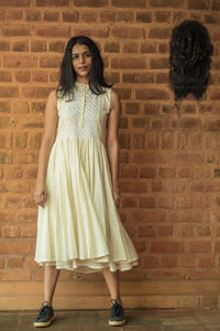 Asha -Khadi off white Dress