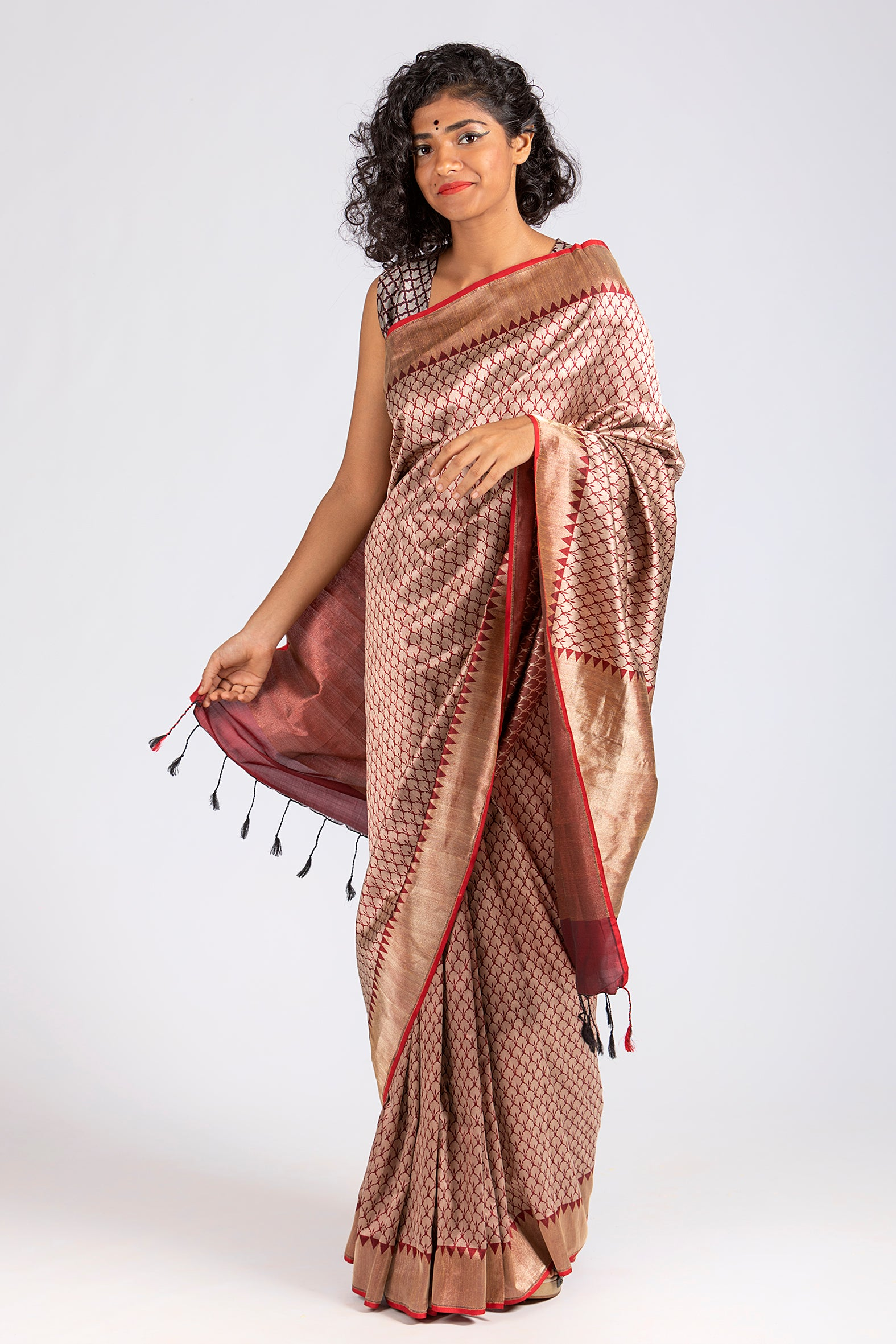 Thangam- Purple Woven Saree