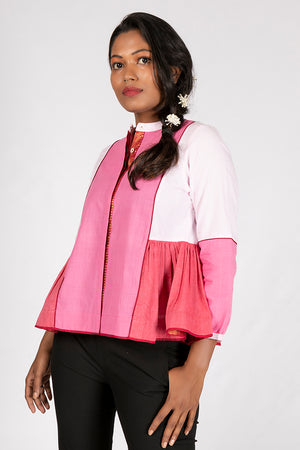 Pink Organic Cotton Plain Top - KEDIYA