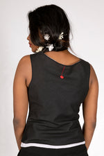 Black Organic cotton Top - COWL
