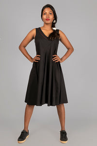 Black Organic cotton Dress - NALINI