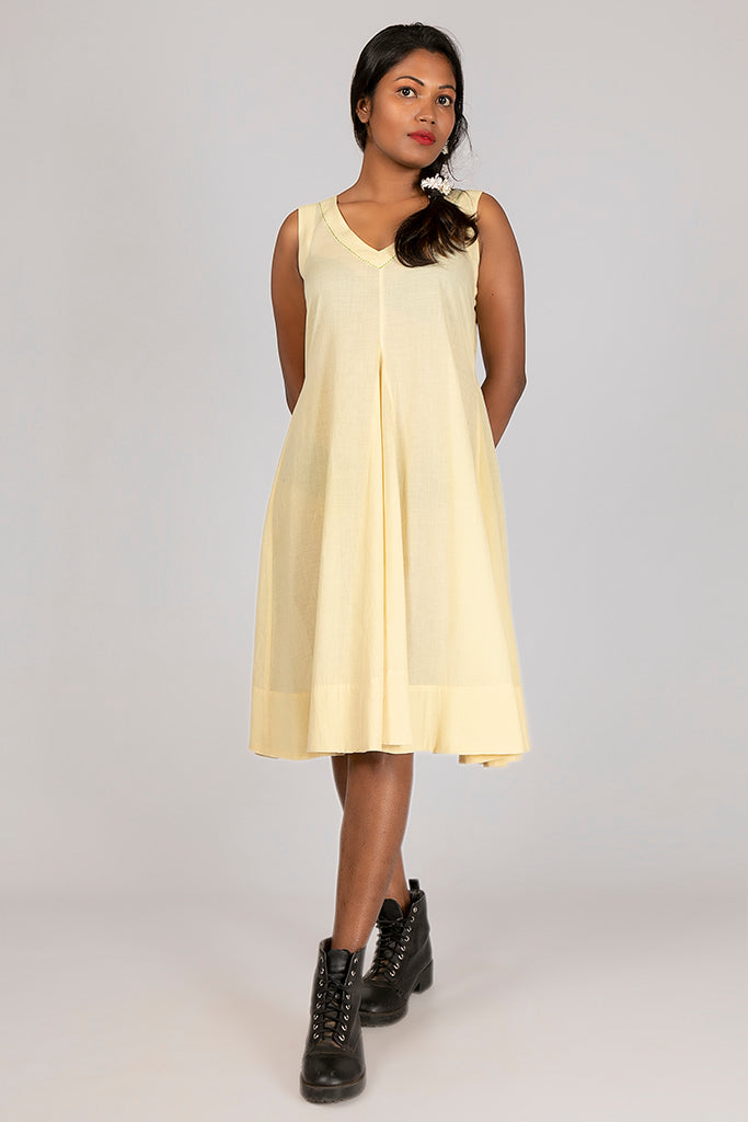 Neem dyed Organic cotton Dress - NALINI