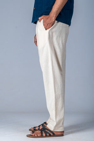 Off-White Desi Cotton Pant - JIVA