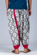 Red and Grey Ikat - Turkish Pant