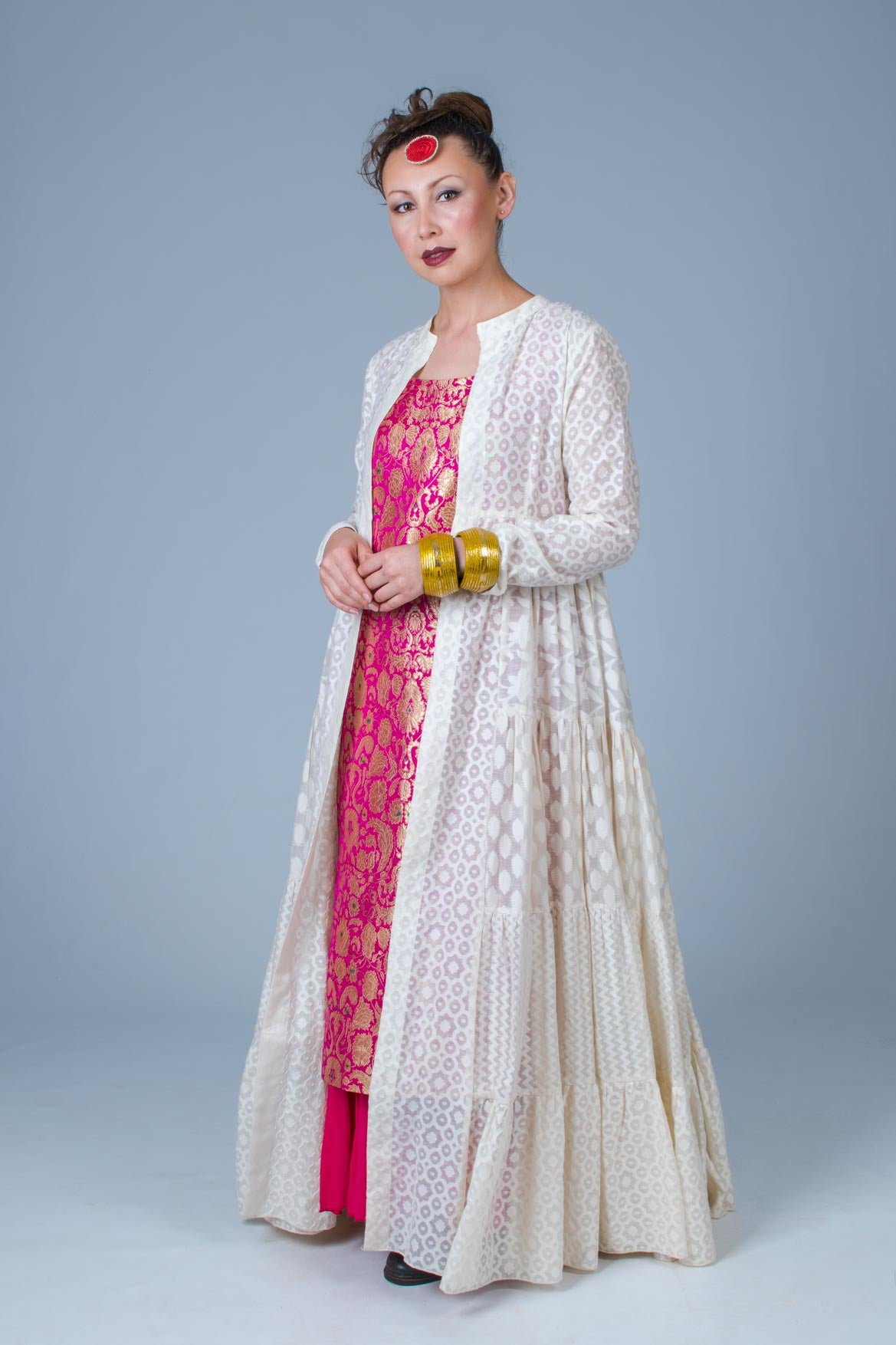 Cotton Cutwork-Kimkhab Set TIA