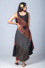 Aarnavi-Upcycled Organic Cotton  Black  Dress