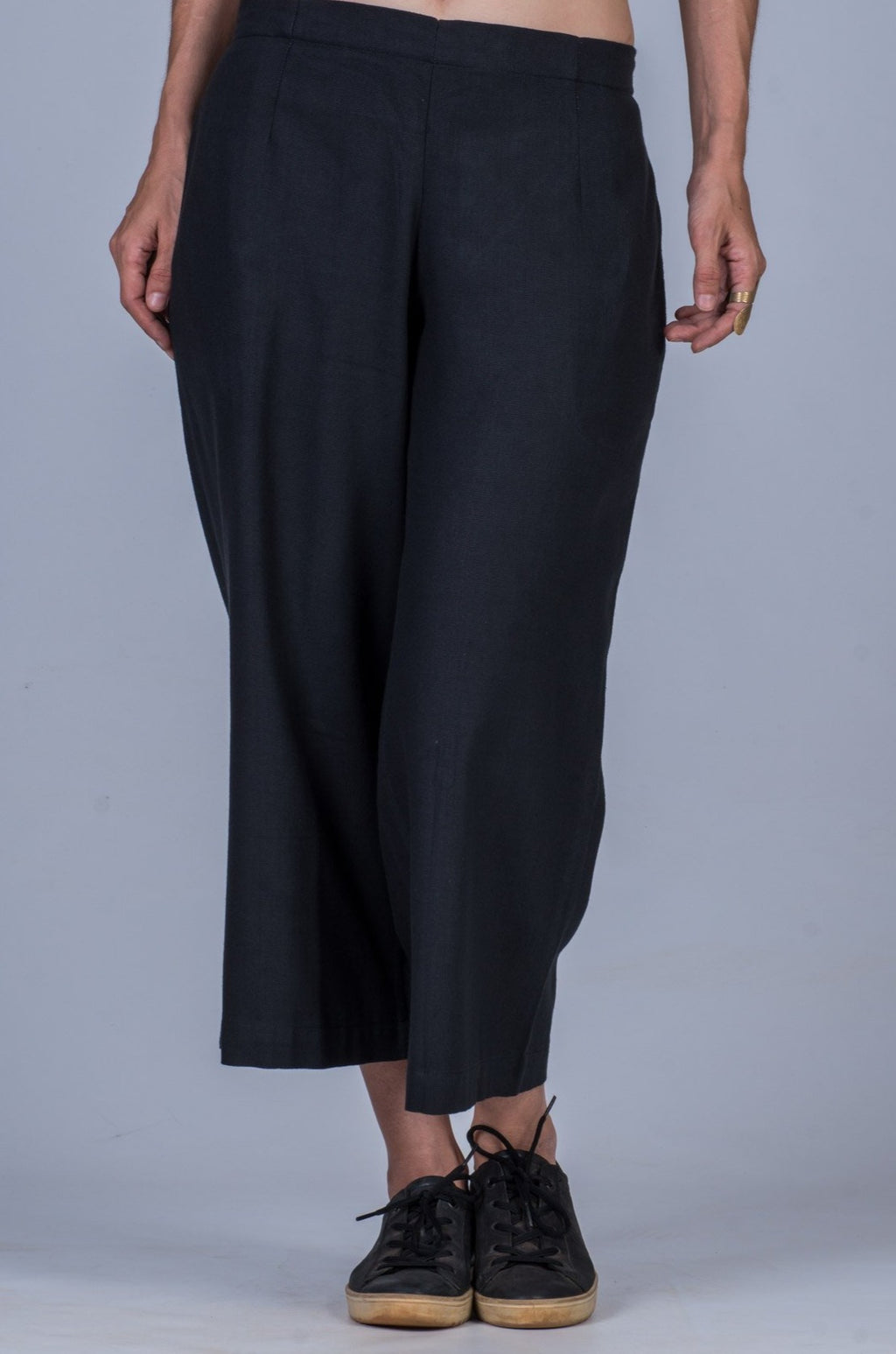 Black Khadi Women Pants - NILA
