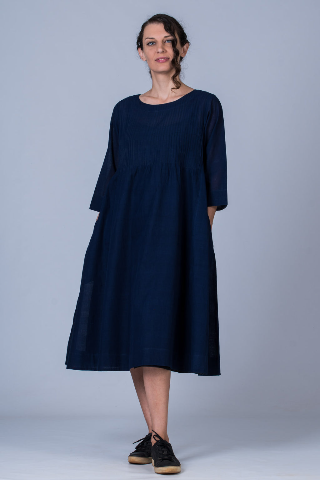 Indigo Cotton Dress - UDUPU