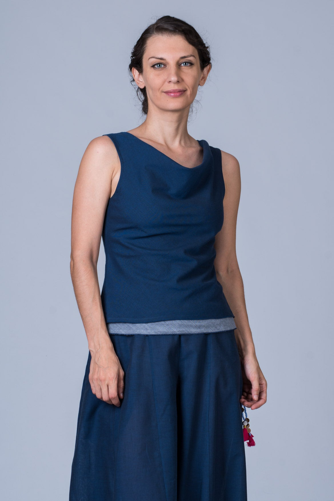 Indigo Organic cotton Top - COWL
