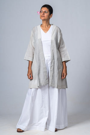 SAYURI ORGANIC CHECKED  COTTON SUMMER JACKET