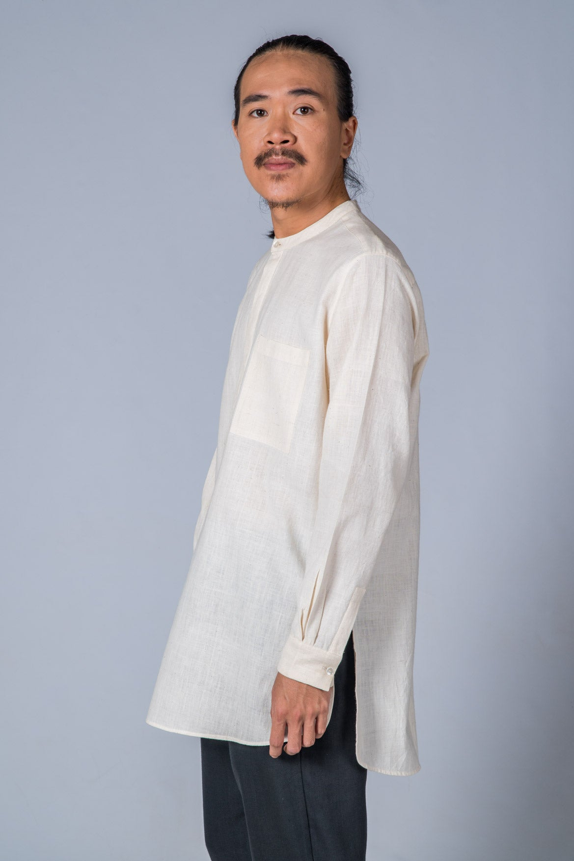 Off-White Handwoven Kurta - ARISTA - Upasana Design Studio