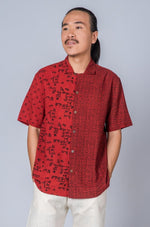 Red Hand Block Print Shirt - RAULPH