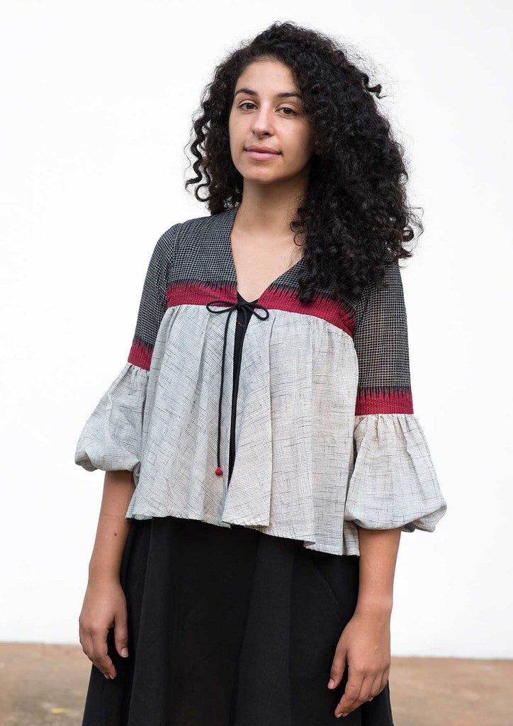 Harika- Handwoven cotton top