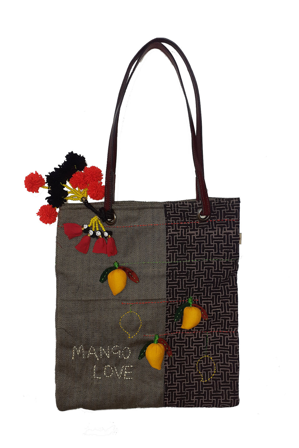 3D Organic cotton tote bag - MANGO - Upasana Design Studio