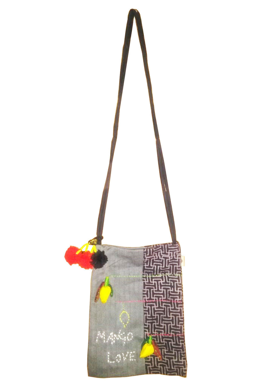 3D Upcycle Organic cotton sling bag - MANGO