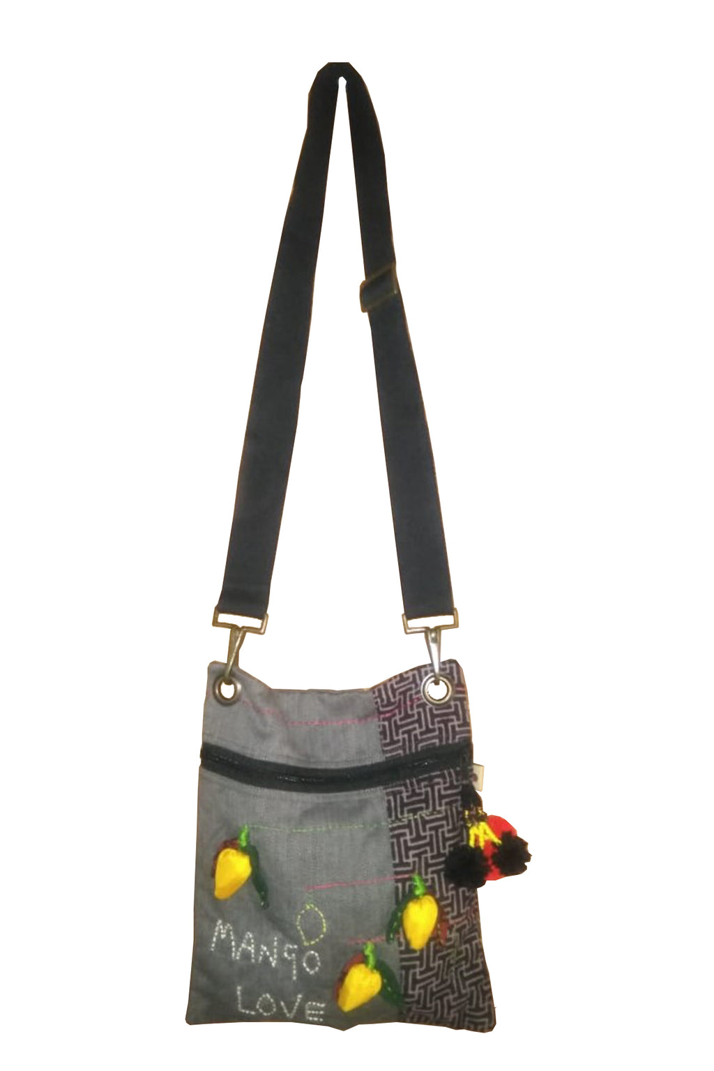 3D Organic cotton sling bag large- MANGO