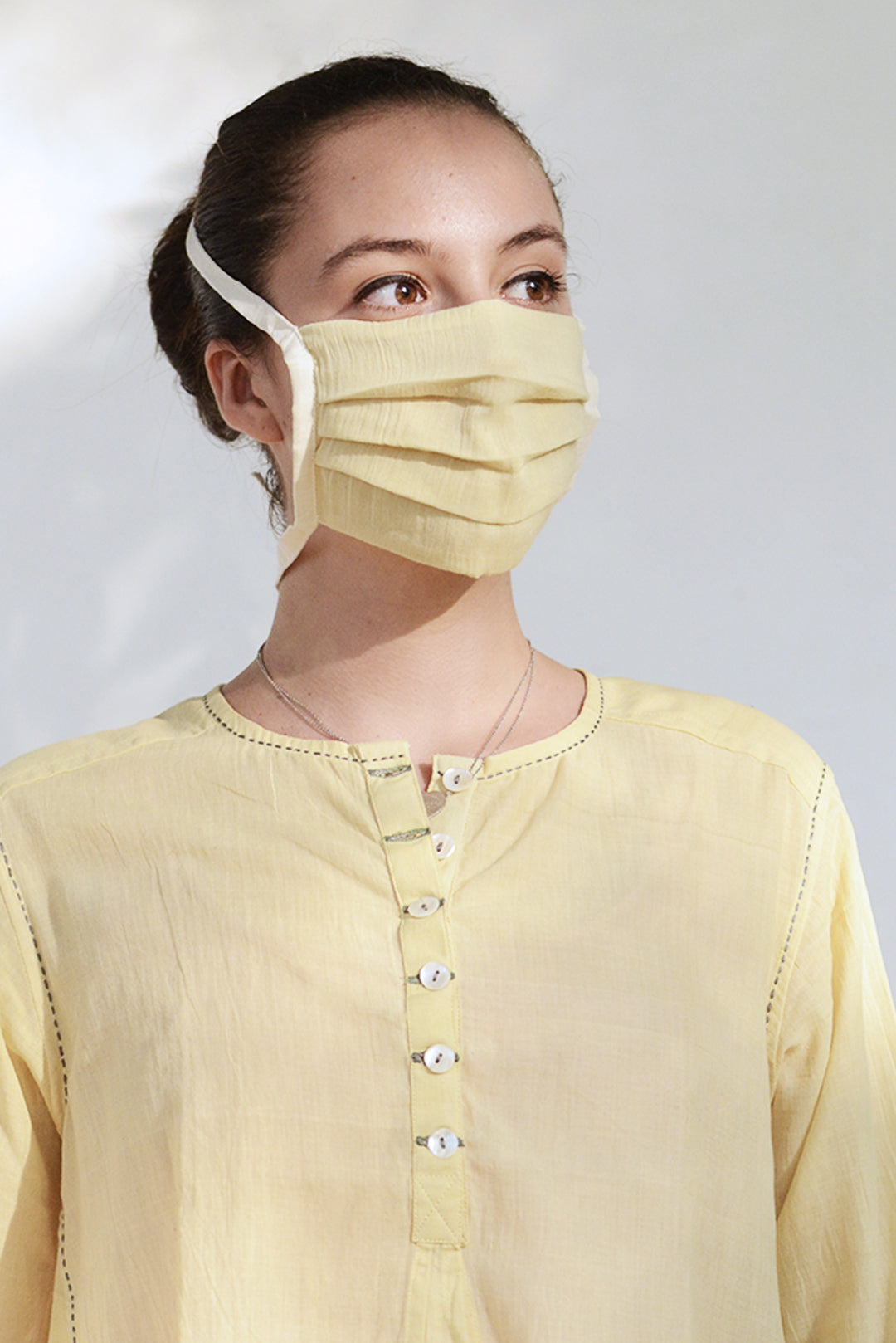Neem Organic Cotton mask with rope (RS 100 each) - Upasana Design Studio