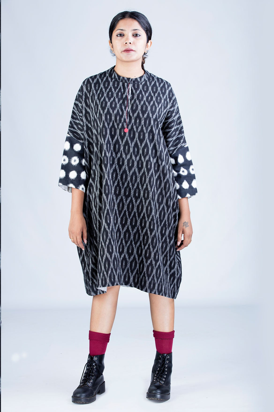Black Ikat Dress - MUKTA