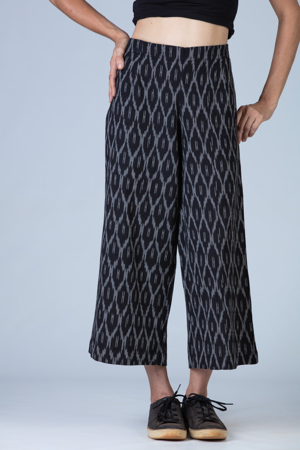 Black Ikat Women Pants