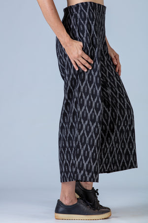Black Ikat Pants - NILA - Upasana Design Studio