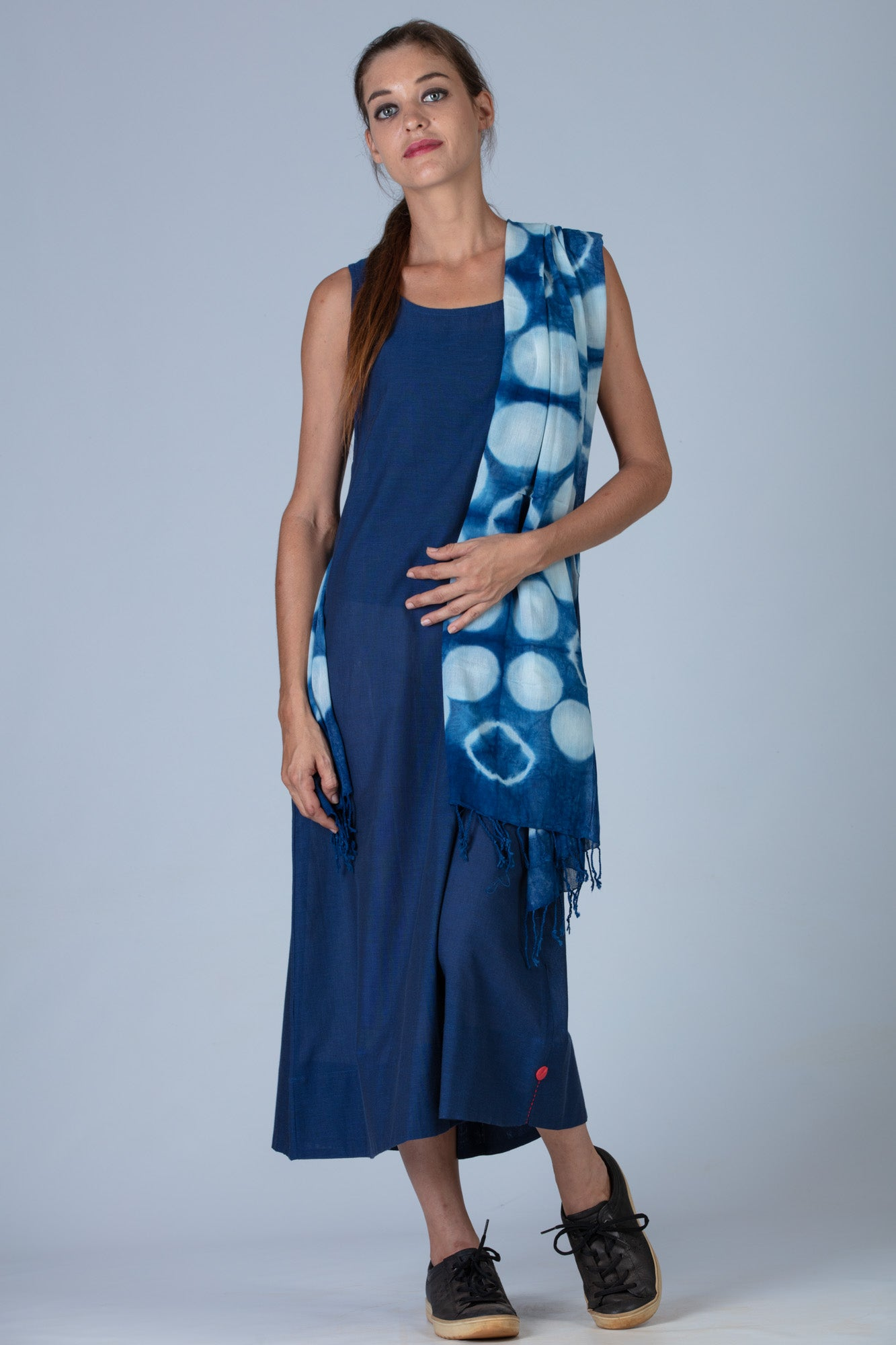 Indigo Organic cotton Dress - NIKITA
