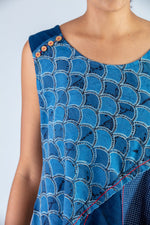 Indigo Upcycled Dress - NAISHA