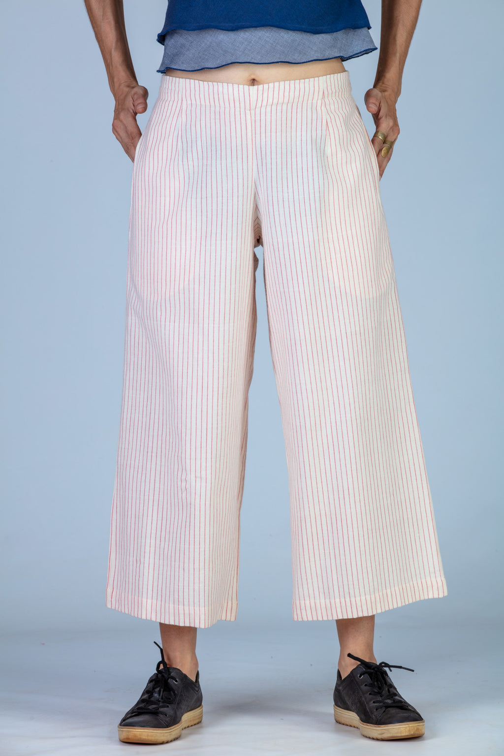 Red striped Organic cotton Pants - NILA