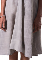 Tulsi dyed Organic cotton Dress - NALINI - Upasana Design Studio