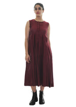 Navya - Maroon Organic Cotton Dress