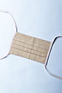 Neem Organic Cotton Striped mask with rope (RS 100 each) - Upasana Design Studio