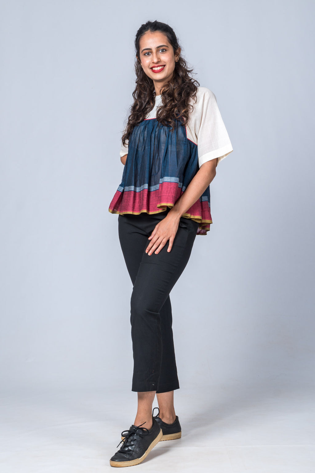 Rachana - Indigo Top