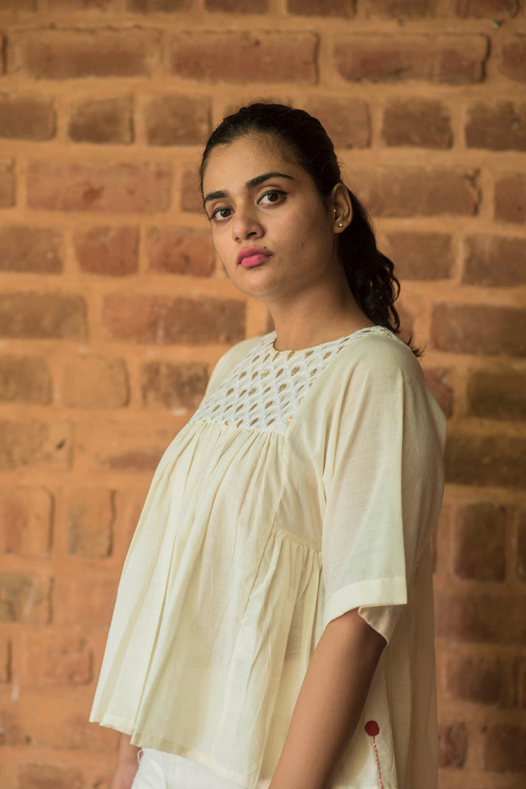 Rachana-Khadi off white Top