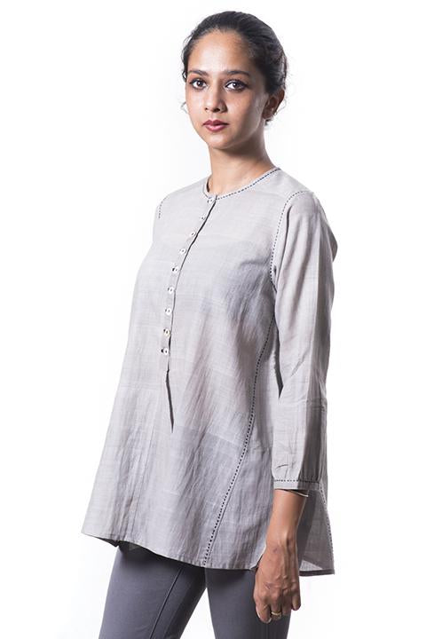 Tulsi dyed Organic cotton Top - RUMI