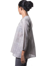 Tulsi dyed Organic cotton Top - RUMI - Upasana Design Studio