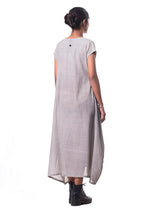 Tulsi dyed Organic cotton dress - SAIMA - Upasana Design Studio