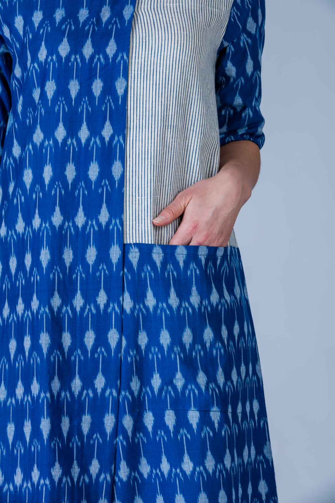 Sangya Ikat -Ikat Indigenous cotton and Khadi dress