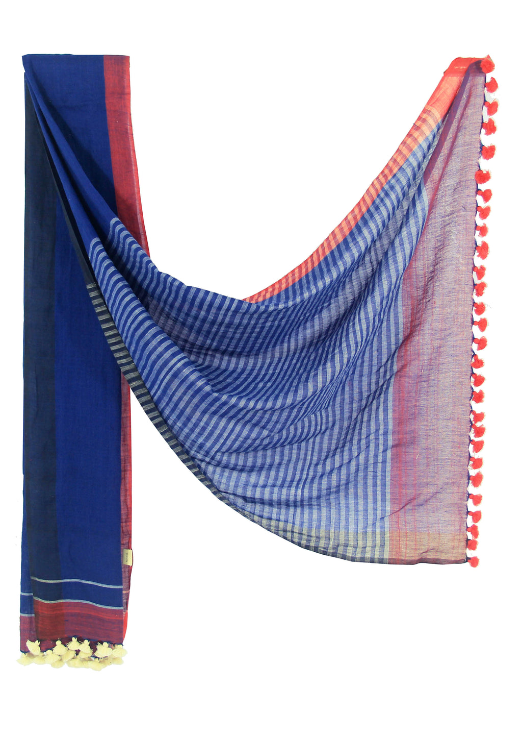 Handwoven organic cotton scarf - SHARANI