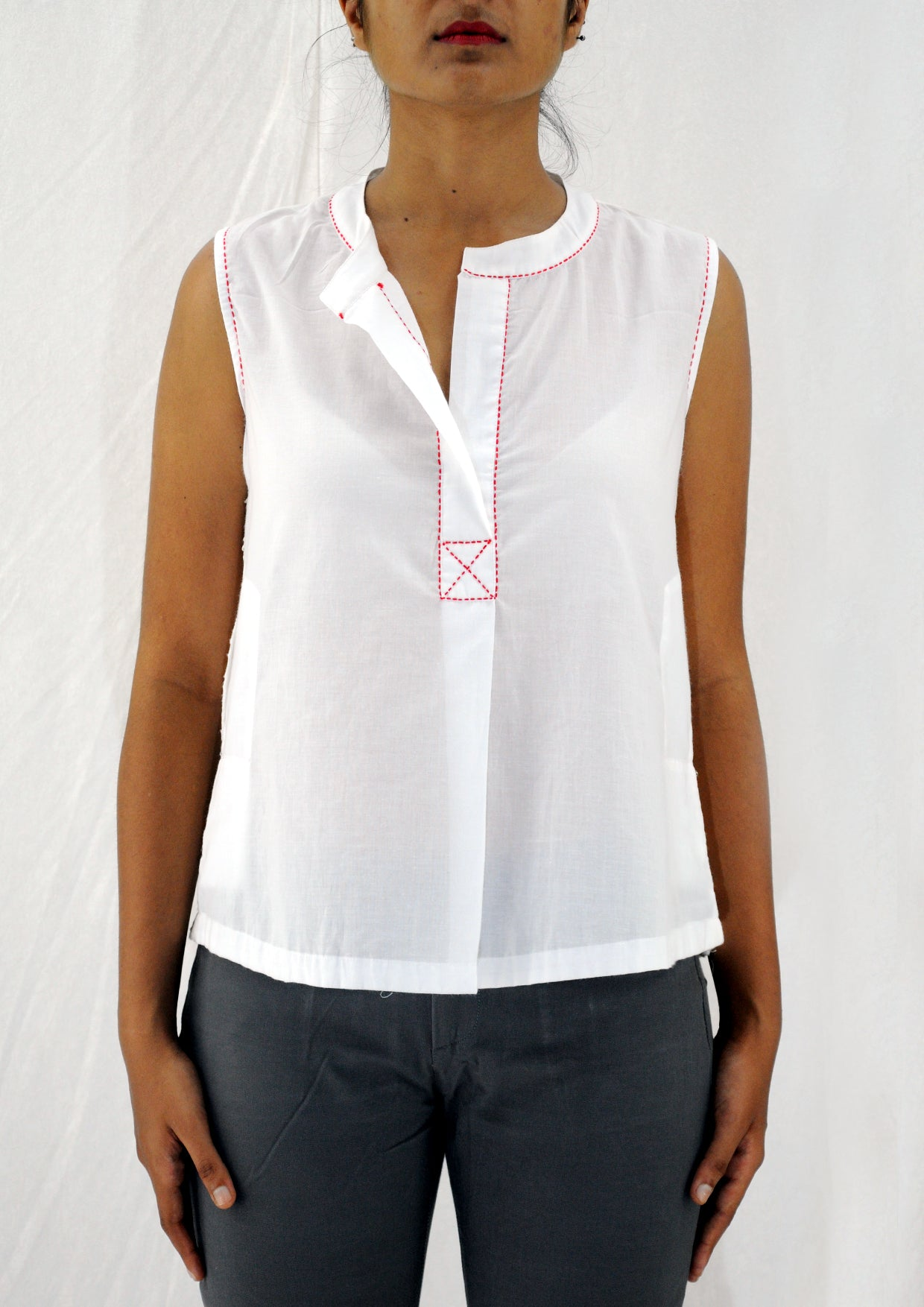 White Organic Cotton Top - AHELI