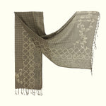 Natural Dyed Organic cotton Hand Block printed Scarf - AADA - Upasana Design Studio