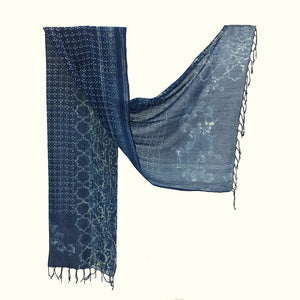 Natural Dyed Organic cotton Hand Block printed Scarf - AADA