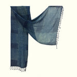 Natural Dyed Organic cotton Hand Block printed Scarf - ABELLA