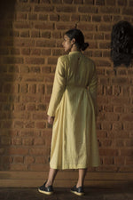 Neem dyed Organic cotton Dress - VEDIKA - Upasana Design Studio