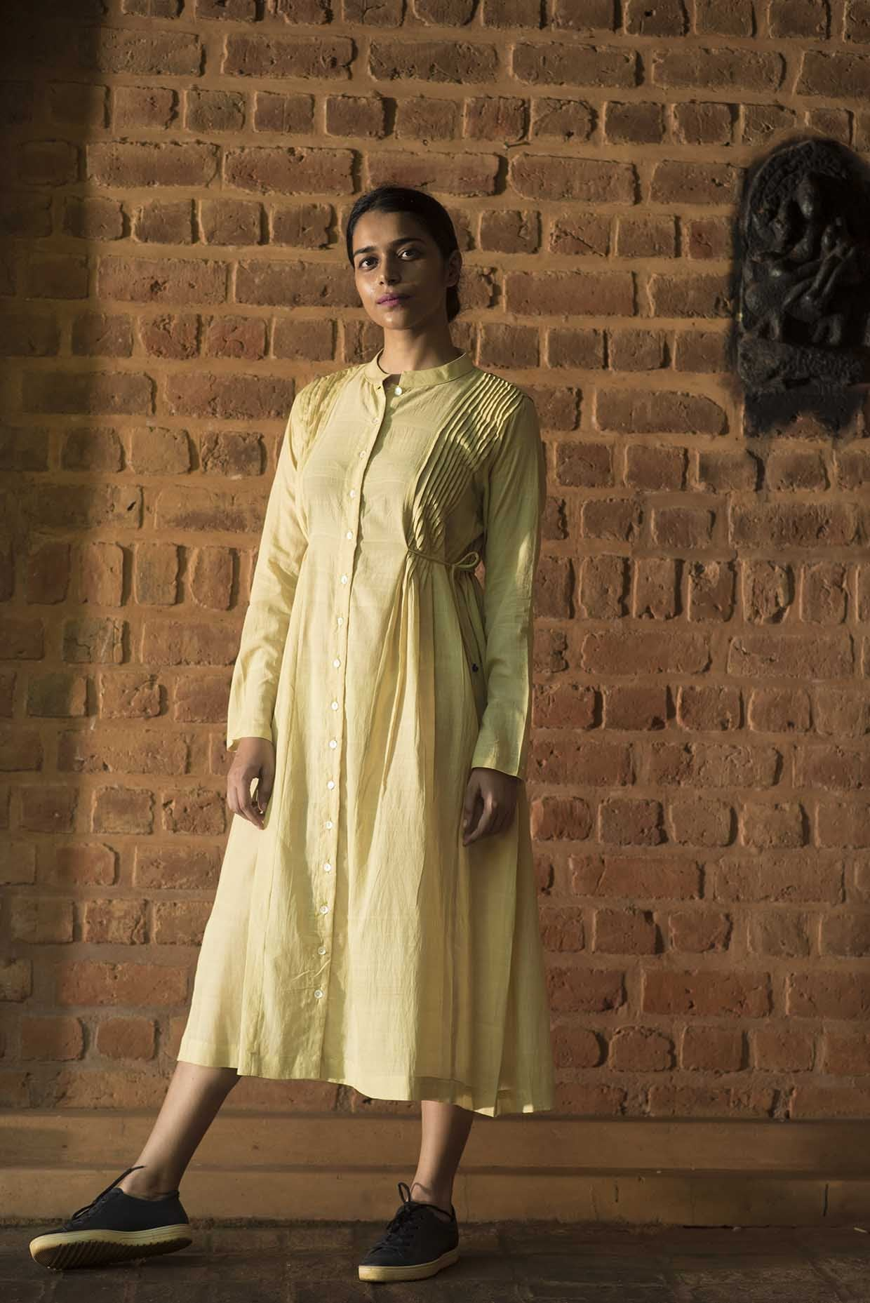 Neem dyed Organic cotton Dress - VEDIKA