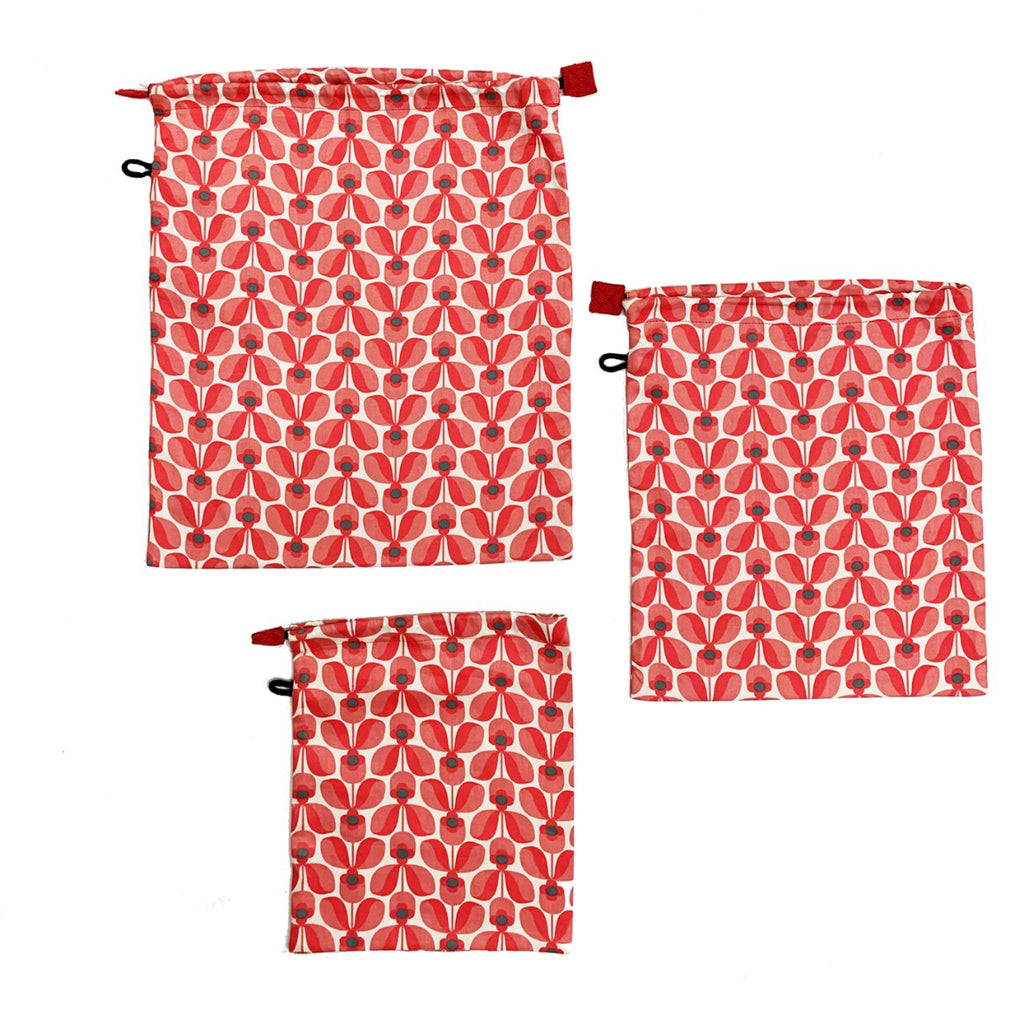 Produce Bags (Set of 3) - Floral