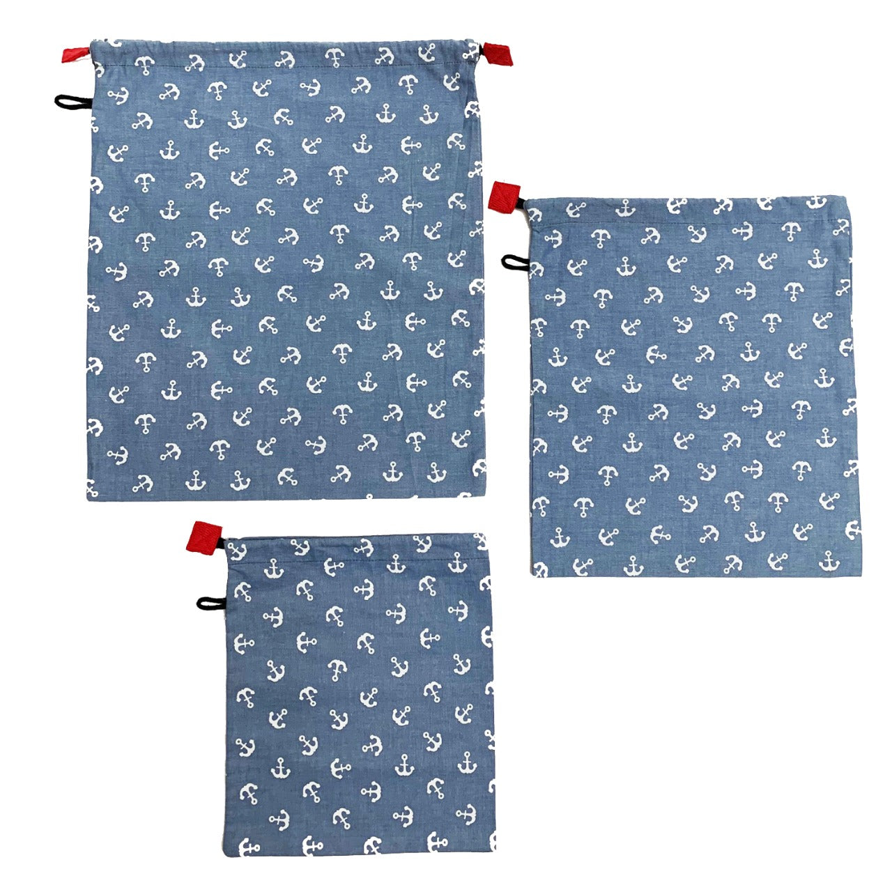 Produce Bags (Set of 3) - Blue Printed