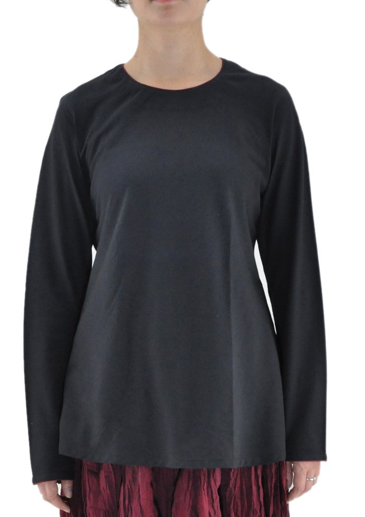 Zala - Black organic Cotton Top