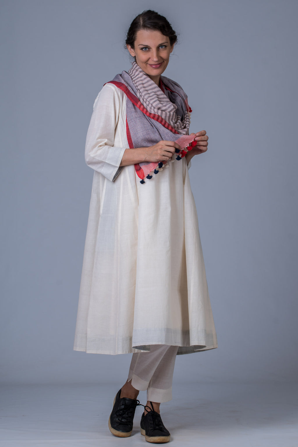 Handwoven Set Udupu -Off White